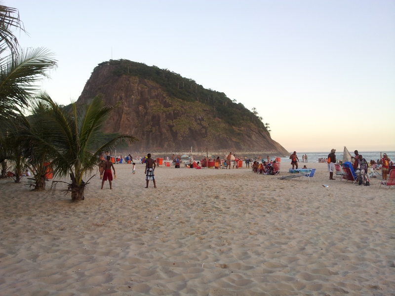 Leme beach, early evening.