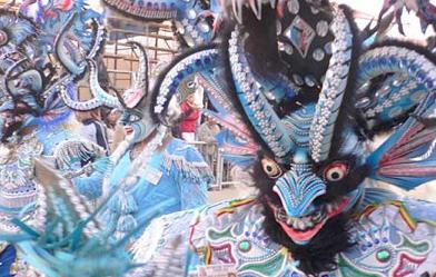 La Diablada....The Devil's Dance, Oruro, Bolivia. Just as trippy it seems.