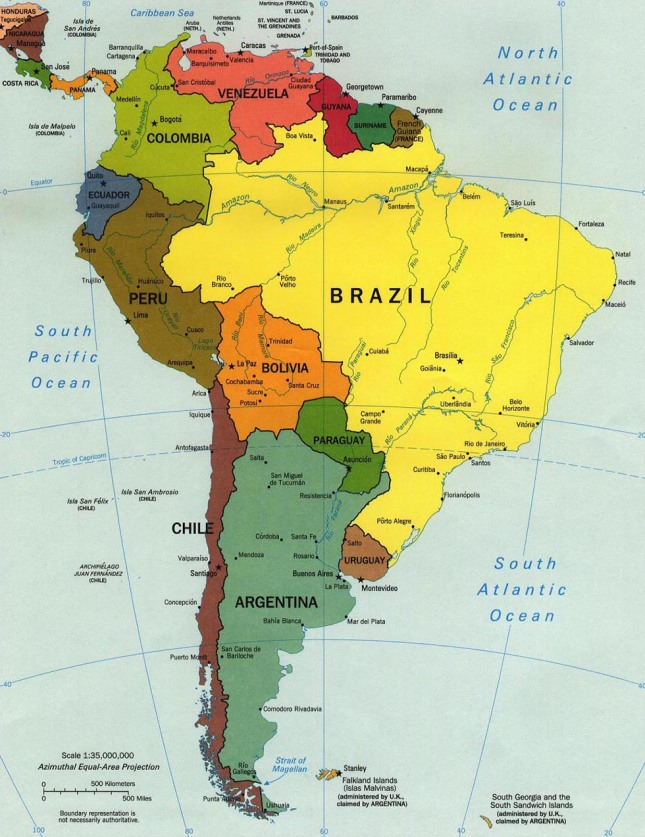 southamerica map