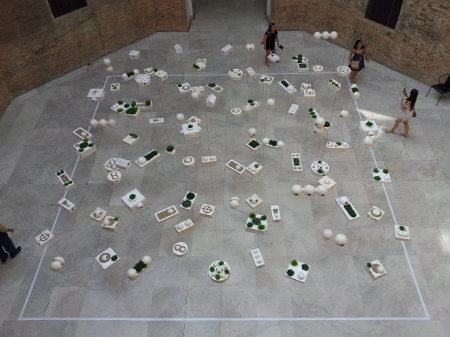 The beautiful atrium space at Pinacoteca, Sao Paulo,