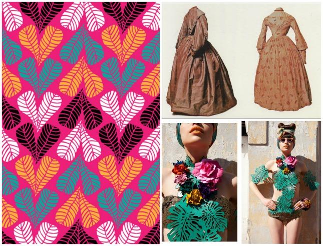 Bronte dresses from 1830 + Tropicalia colour.