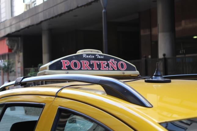 A 'Porteno' taxi.